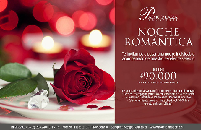 Promociones hotel boutique bonaparte santiago chile for Platos para una cena romantica